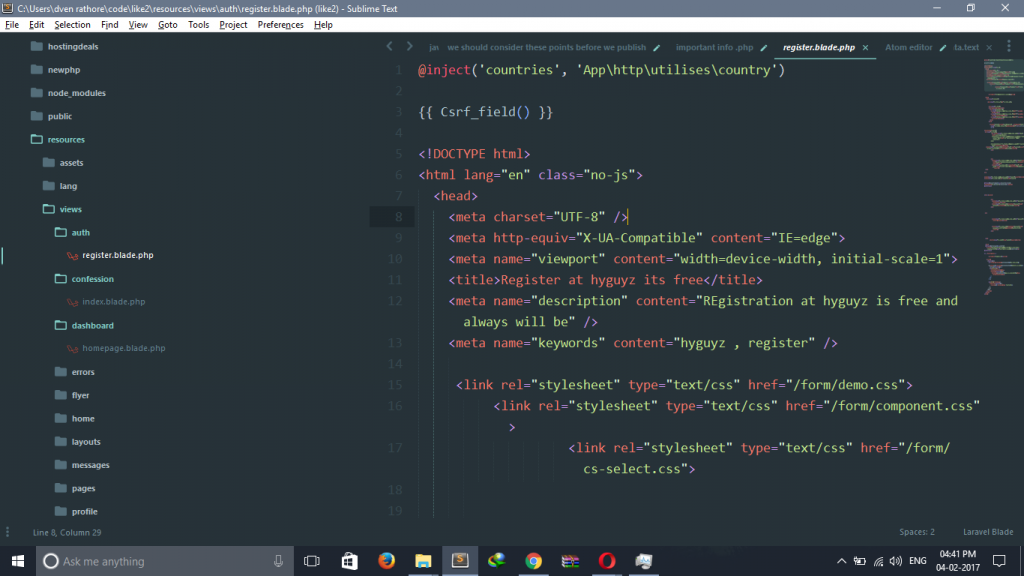 Material Theme,Sublime Text 3 主题