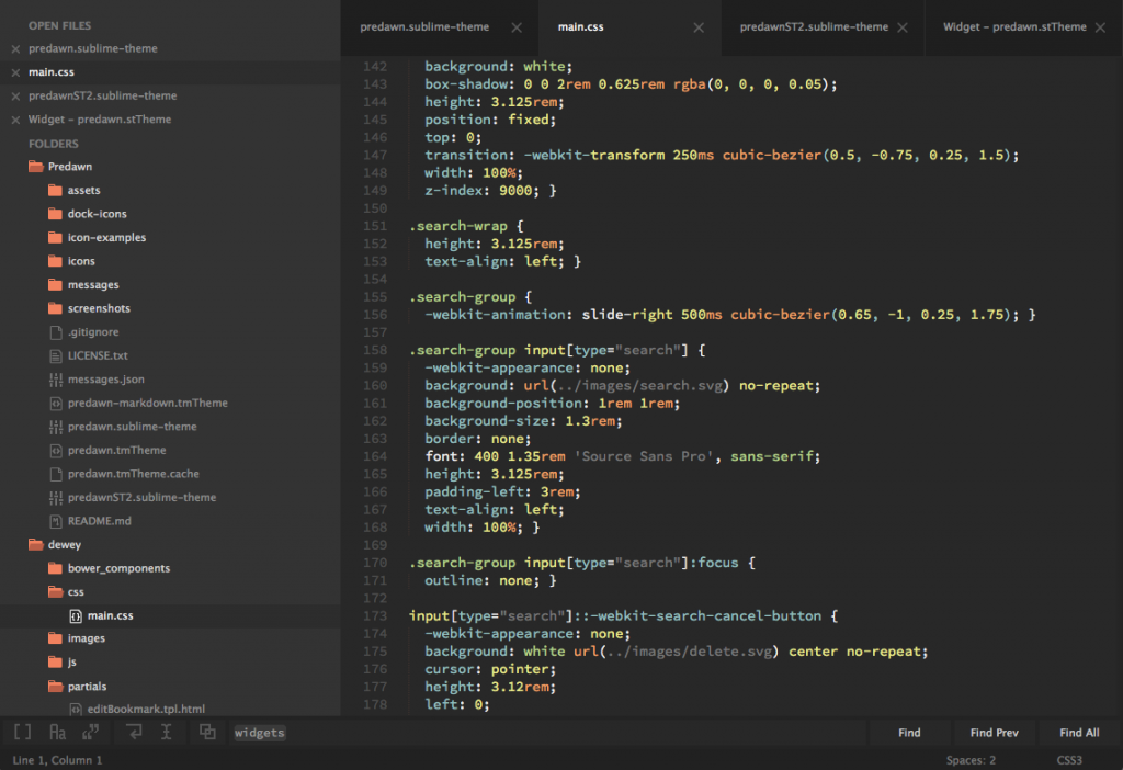 Predawn,Sublime Text 3 主题