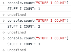 console.count()