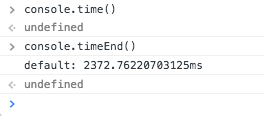 console.time() 和 console.timeEnd()